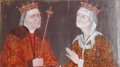 Christian I og hans dronning Dorhthea. Han fik æren for at have fået Pavens tilladelse til at oprette universitet i Danmark - men det var hende, der gjorde arbejdet.Foto: Ukendt kunstner/Frederiksborg Slot